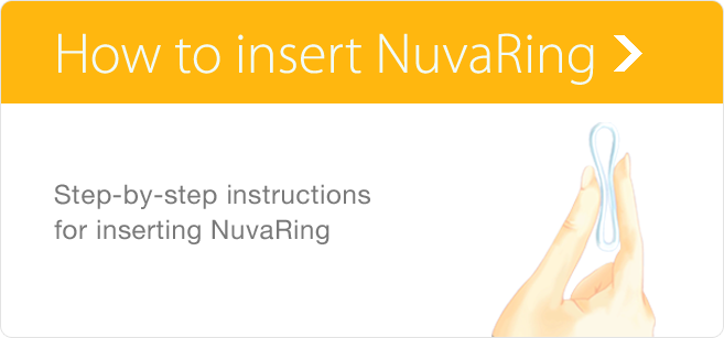 Learn how to insert NuvaRing with detailed instructions and images